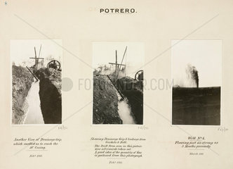 Oil wells at Potrero  Mexico  15 March 1911.