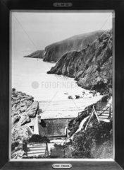 Cliffs at Port O'Warren  Dumfries and Galloway  Scotland  20 April 1928.