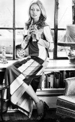 Crimplene hostess dress  May 1972.