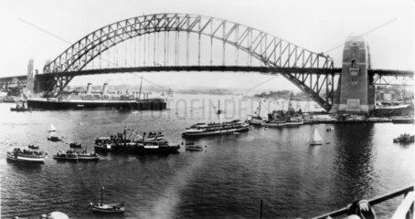 Sydney Harbour Bridge  Australia  1932.