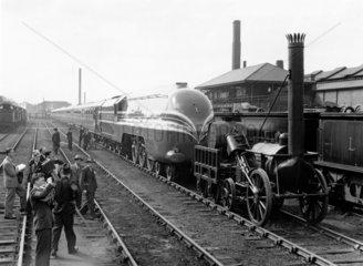 Steam locomotive 'Coronation' and the 'Rock