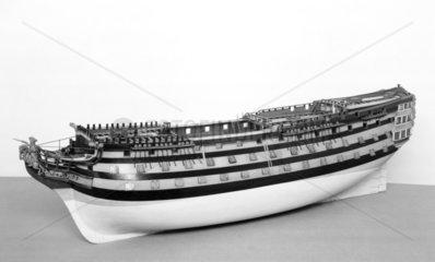 HMS 'Boyne'  1790. Model.