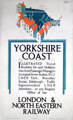 'Yorkshire Coast'  LNER poster  1925.
