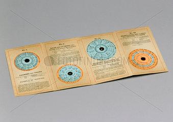 Bellow's concentric ready reckoner calculators  1900-1920.