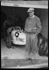 Hans J von Morgen with Bugatti Type 35 racing car  Nurburgring  Germany  1931.