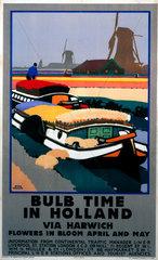 'Bulb Time in Holland'  LNER poster  1929.