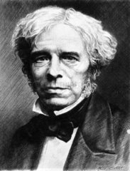 Michael Faraday  English physicist.  c 1850s.