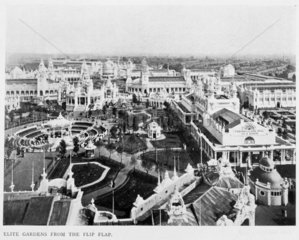 'Elite Gardens from the Flip Flap'  White City  London  1910.