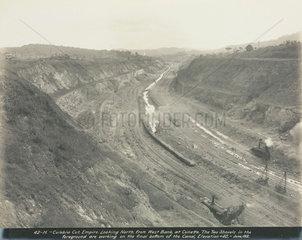 Construction of the Panama Canal  Panama  1912.