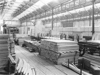Timber at Newton Heath works  Greater Manchester  c 1927.