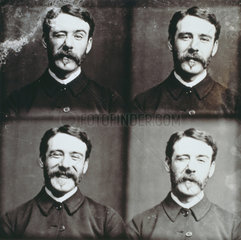 A series of facial expressions by Friese Greene (1855-1921)