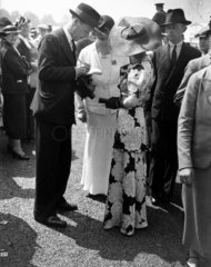 Fashions at the Royal Ascot Races  Berkshire  Gold Cup Day  18 June 1936.