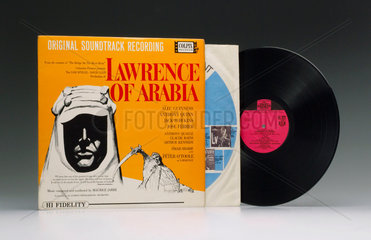 Soundtrack from the film 'Lawrence of Arabia' on an LP  1963.