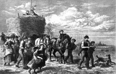 'The Last Load': haymaking  1872.