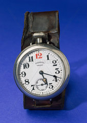 'Ingersoll' wrist watch with leather strap  1915.