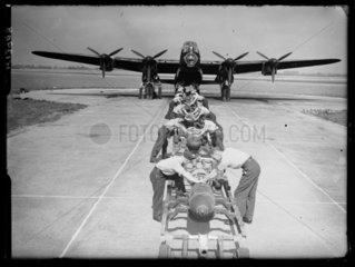Lancaster bomber  1942.