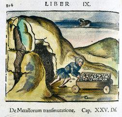 Mining for metal  1535.