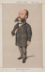 Baron Paul Julius Reuter  German-born British news agency founder  1872.