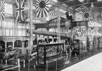 Vickers  Sons and Maxim Ltd exhibition stand  Japan-British exhibition  1910.