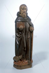 Statue of St Anthony the Hermit  Dutch  16th century.