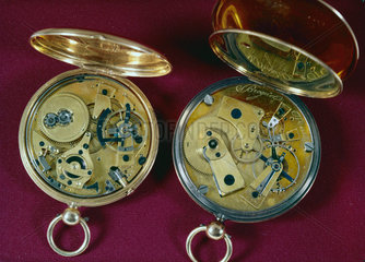Two gold watches by Breguet  c 1818-1825.