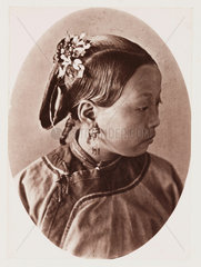 'Mode of Dressing the Hair'  c 1871.