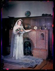'Bride in gown'  c 1944.