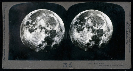 Full Moon  stereocard  1900.