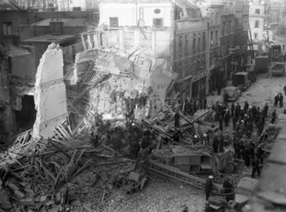 Bomb damage in Central London  1940.
