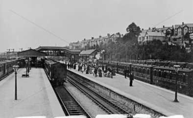 Barry station  Vale of Glamorgan  early 20th century.