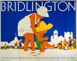 'Bridlington'  LNER poster  c 1935.