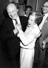 Neil Kinnock and Barbara Castle  1980s.