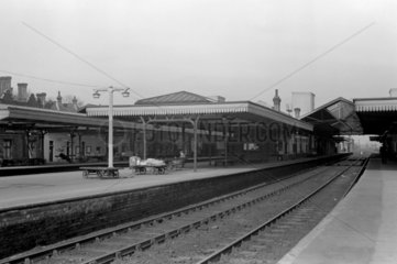 Bletchley station  7 March 1953.