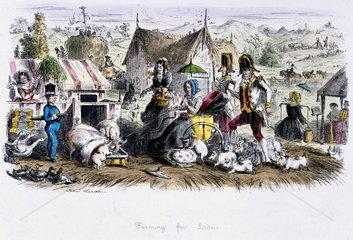 'Farming For Ladies'  c 1840s.