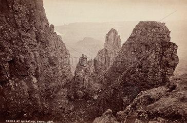 'Rocks at Quiraing  Skye'  Isle of Skye  Scotland  c 1850-1900.