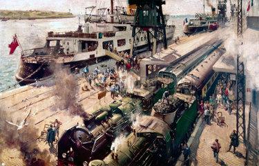 'SS Invicta' at Calais  France  c 1952.