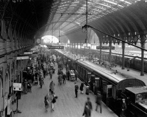 Paddington Station  London  10 June 1931.