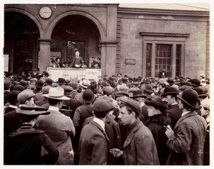 A public meeting  c 1900.