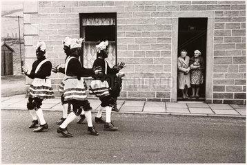 Coconut dancers  Bacup  Lancashire  1968.