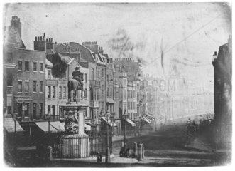 Whitehall from Trafalgar Square  London  1839.