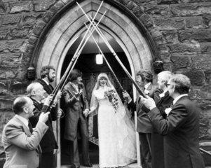 Alex Higgins getting married  January 1980.