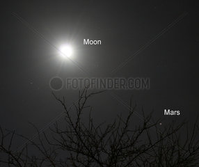 The Moon and Mars  2005.