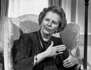 Margaret Thatcher  British politician  April 1987.