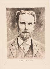 Oliver Heaviside  physicist  c 1900.