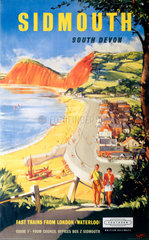 'Sidmouth'  BR (SR) poster  1959.