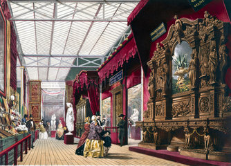 French No 2 stand at the Great Exhibition  Crystal Palace  London  1851.