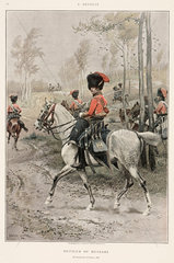 Officer of the Hussars  5th regiment of France  1806.