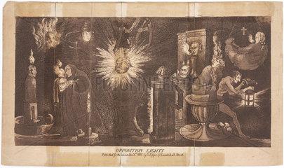'Opposition Lights'  London  1 December 1808.
