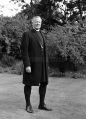 Railway photographer Bishop Eric Treacy  c 1974.