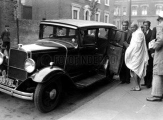 Mahatma Gandhi in London  2 October 1931.